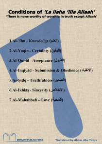 Conditions of 'La ilaha 'illa Allaah