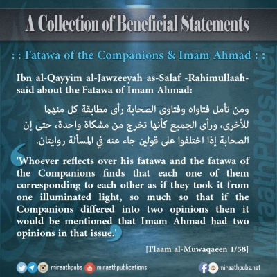 miraathpubs-a-collection-of-beneficial-statements-4-fatawa-of-the-companions-imam-ahmad